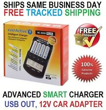 everActive NC 1000+ Smart Charger AA AAA +USB +12V DC Cargadores/Ladegerät EU