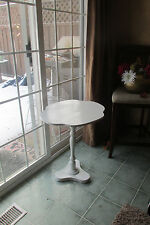 Shabby Chic Accent Table Cottage Chic End Table Pedestal Table/Vintage