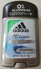 MEN'S ADIDAS Deodorant 0% No Aluminum Free Cotton Tech+ Dynamic Pulse