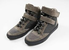 Brunello Cucinelli Beaded Suede High Top Gray Sneaker Shoes Size 8