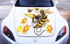 Vinyl Car Hood Full Color Graphics Sticker Attacking Wasp Hornet Custom Decal