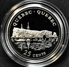 1992 Canada 25 cents Proof Silver Coin - Quebec
