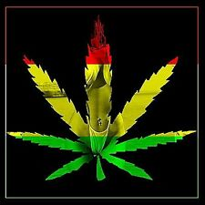 "2.5"" Sexy Bikini Woman, RASTA MARIJUANA LEAF sticker / decal computer 420 weed"
