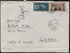 1954 - Posta Pneumatica - Lire 5 n.19 + complementare - viaggiata