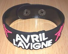 NEW AVRIL LAVIGNE RUBBER BRACELET WRISTBAND UNISEX MEN BLACK SOUVENIRS DAY WB107