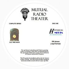 MUTUAL RADIO THEATER - 104 Shows Old Time Radio In MP3 Format OTR On 3 CDs