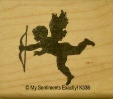 NEW MSE! My Sentiments Exactly! Mounted Wood Rubber Stamp K338 Cupid