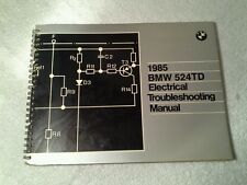 BMW 1985 524TD ELECTRICAL TROUBLESHOOTING MANUAL