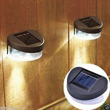 Outdoor Solar Powered LED Path Wall Landscape Mount Garden Fence Light Lamp