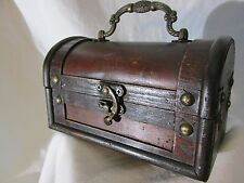 Mini Treasure Chest Small Trunk Box Vintage Jewelry Watch Storage  Decor