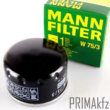 MANN FILTER W 75/3 ÖLFILTER RENAULT DACIA NISSAN MITSUBISHI OPEL VIVARO| W 75/3