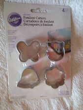 Wilton Fondant Garden Shape Cut-Outs Metal Cutters Cake Deco New