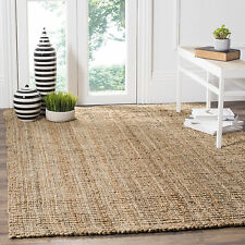Handwoven Weaves Natural Beige Sisal Contemporary Jute Area Rug (5'x8')