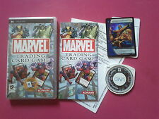 MARVEL TRADING CARD GAME complet (carte incluse)   - SONY PSP - PAL complet