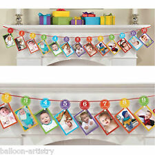 3.65m Rainbow Colours 1st Birthday Party 12 Months Photo Garland Decoration