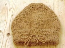 Alpaca Hand Knitted  Light Toffee Beanie Hat
