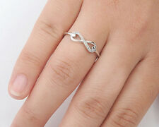 Silver Infinity Ring with CZ Sterling Silver 925 Best Deal Jewelry Size 4