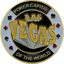 Poker Card Guard , 24 K Vergoldet , LAS VEGAS