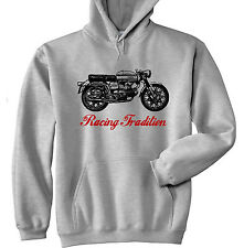 AERMACCHI ALA VERDE 250 RACING TRADITION P - GREY HOODIE - ALL SIZES IN STOCK