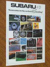 c1977 Subaru original double sided Accessories sheet