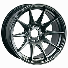 XXR 527 15X8.25 WHEELS 4X100/114.3 +0 CHROMIUM BLACK RIM (SET OF 4)
