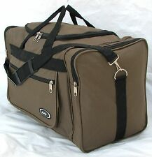 "21"" 40LB. CAP BROWN / KHAKI  DUFFLE BAG/ GYM BAG / LUGGAGE/ CARRY ON /SUITCASE"