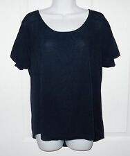 Comptoir des Cotoniers Sparkly Navy Relaxed Top Size S