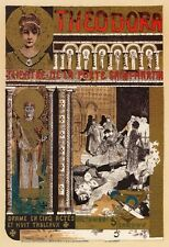 AP67 Vintage French Theodora Theater Drama Advertisement Poster Card Print A5