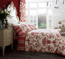RICHMOND RED FLORAL DUVET SET QUILT COVER PILLOW CASES DOUBLE SIZE BEDDING