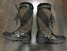 Burberry Prorsum High Weather Mega Check Snow Boots Shearling Lined Sz 40 $1695
