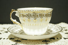 Vintage Circa 150's REGENCY Genuine Bone China Cup and Saucer SET Gold Scrolls