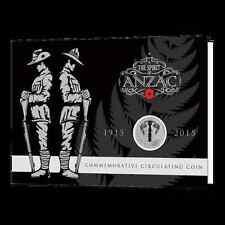 2015 THE SPIRIT OF ANZAC  COLOURED 50 CENTS UNC COIN IN COLLECTIBLE PACK!!!!