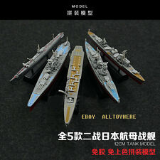 JAPAN 5pc Warship  Battleship Aircraft Carrier Destroyer Cruiser Figure Toys