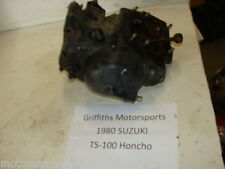 80 Suzuki TS100 TS 100 Honcho ENGINE BOTTOM END CRANK CASES TRANNY CLUTCH BASKET