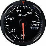 Defi Racer Gauge 52mm Voltage Meter DF07006 White