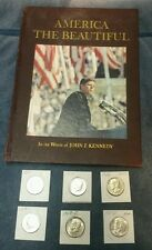 JFK America the Beautiful Book and 6 Silver Half Dollar 1964-1969
