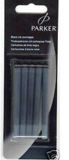 5 PARKER  PERMANENT  BLUE  INK CARTRIDGES  NEW IN BLISTER  PACK