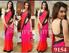 Exclusive Bordered Partywear Bollywood Saree Fabric Georgette Saree Blouse Sari
