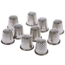 10 pcs Retro Finger Thimble Protector Sewing Pin Neddle Metal Shield 12 x 13mm