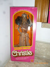 1980 Christie Golden Dream Barbie Da Sogno black Cara hawaiian superstar