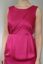 *BNWOT Florence&Fred F&F Pink Cerise Silky Satin Wedding Occasion Party Dress 10