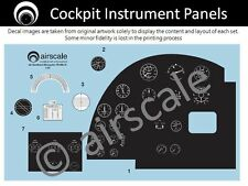 airscale Model Aircraft Mosquito cockpit decals - Airfix 1/24 scale AS24 MOSA