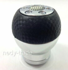 Gear Knob Stick Shift Solid Metal Chrome Black Carbon UNIVERSAL