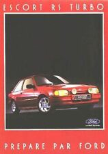 FORD ESCORT RS TURBO  BROCHURE Early