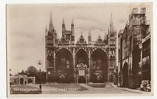Peterborough Cathedral West Front RP Postcard, A481