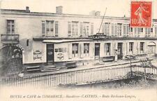 CPA 33 BEAUTIRAN HOTEL CAFE DU COMMERCE CASTRES RTE DE BORDEAUX LANGON