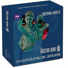 BBC Doctor Who 1/2 oz Silver Proof Coin Monsters Weeping Angels 2014