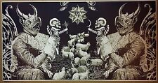 "Satanic Art GIANT WIDE 46"" x 24"" Poster Evil Art Devil Halloween Satan Sheep"