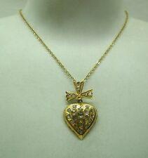 Stunning Antique High Carat Gold And Rose Cut Diamond Heart Pendant And Chain