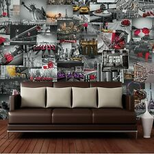 1Wall CREATIVE COLLAGE 64 Piece CITIES & LANDMARKS Designer Wallpaper 7 sqm